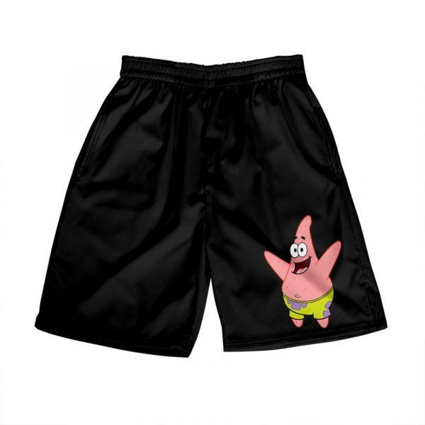 3D Anime Patrick Beach Swimming Shorts