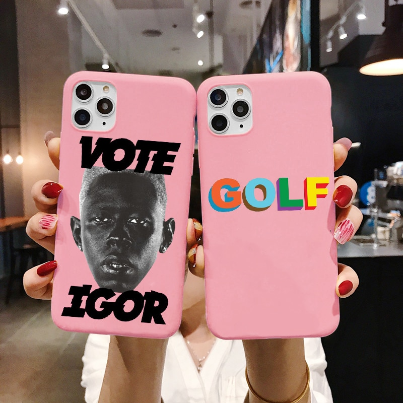 Golf IGOR Bees Matte Pink Silicone Back Phone Case